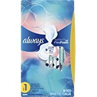 3-Pack of 36-Count Always Infinity Size 1 Regular Flow Feminine Pads with Flexi Wings (Regular Absorbency, Unscented)
