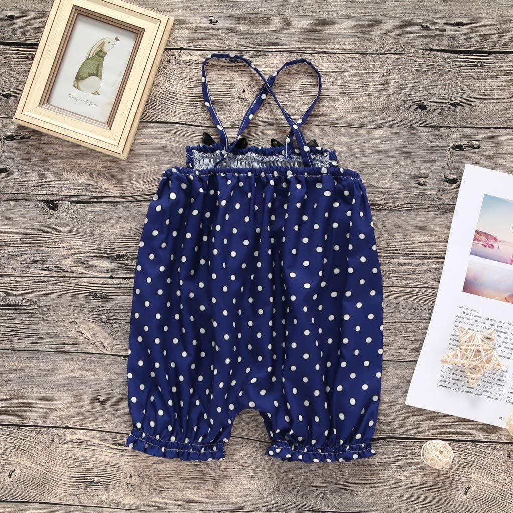 Lily-Li Kids Infant Baby Girl Overalls Jumpsuit Sunsuit Romper Short Pants Outfit Summer