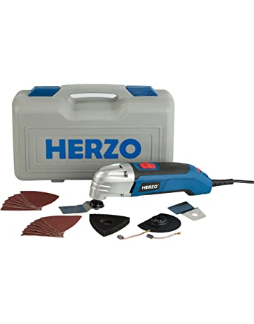 40040c6046a HERZO Oscillating Multi Tool Kits 300W with 18 Pieces Multi Function  Oscillating Combat Tool Accessories Kits