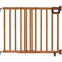 Summer Deluxe Stairway Simple to Secure Wood Gate, 30-48 Inch Wide