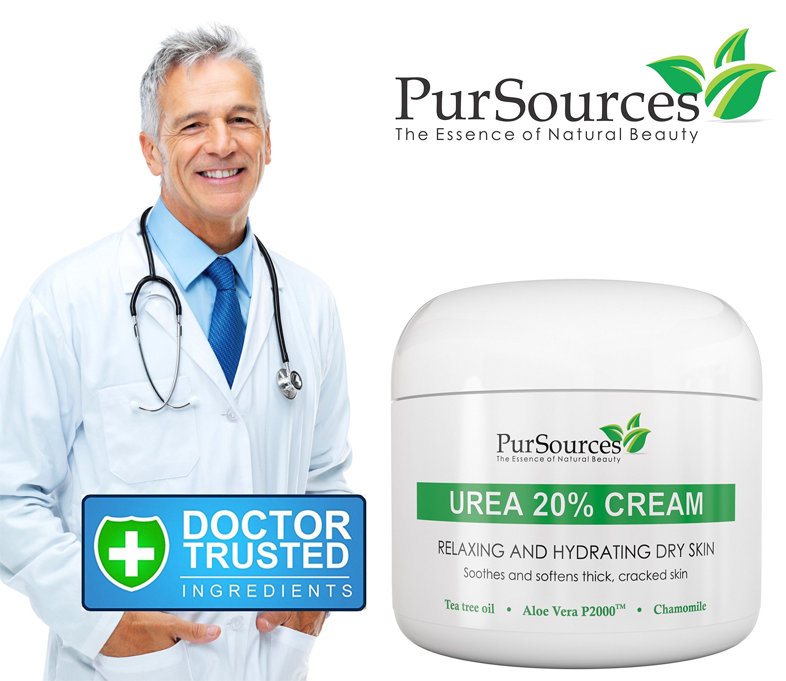 PurSources Urea 20% Foot Cream 4 oz - Best Callus Remover - Moisturizes and Rehydrates Feet - Soothes & Softens Thick, Cracked, Rough Dead and Dry Skin - Your 100% Satisfaction or Money Back Guarantee by PurSources (Image #4)