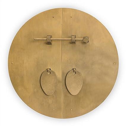 Merveilleux Chinese Brass Hardware Fat Cabinet Face Plate 11u0027u0027
