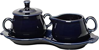 product image for Fiesta Covered Creamer and Sugar Set with Tray, Cobalt