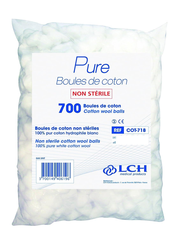 Pack de 700 LCH Nessicare bolas de algod/ón
