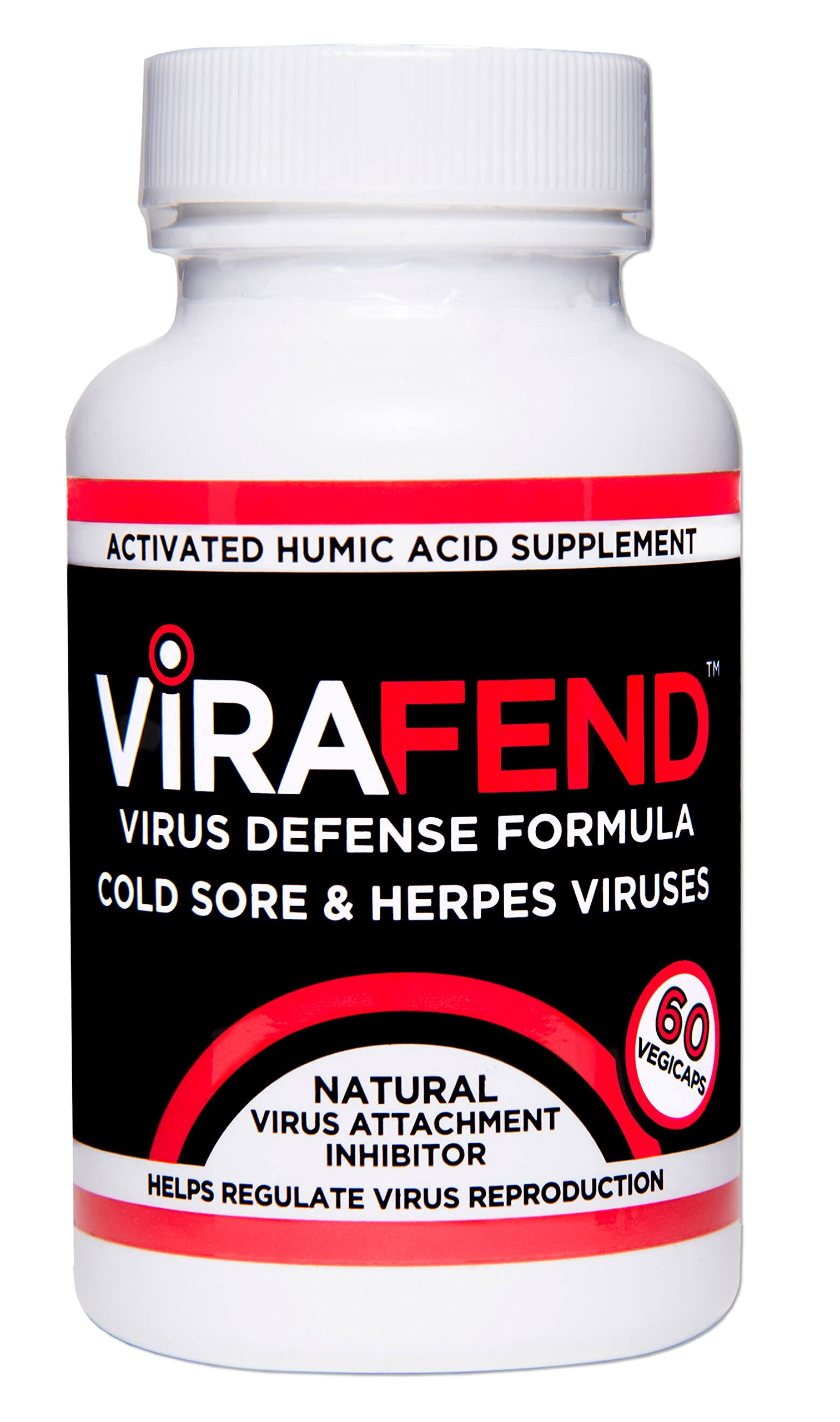 ViraFend + L-Lysine, Best Cold Sores Herpes Virus Defense Supplement, Proactive Alternative to Cold Sore Treatments, Regulates Reproduction of Cold Sores Herpes Viruses, Made in USA, 60 Capsules