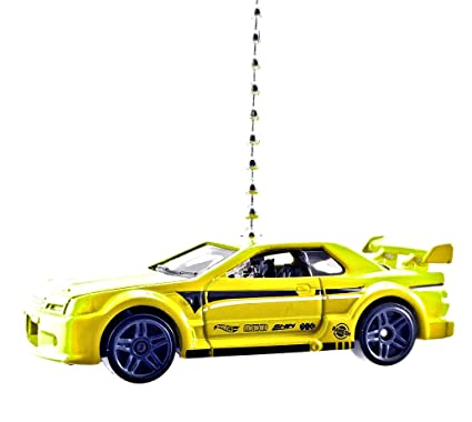 Diecast Nissan Skyline Gtr Gt-r R35 Yellow Toy Car Keyring Keychain Fast Color