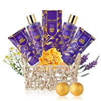 Relaxing Spa Gift Basket for Women - 9 Pcs Luxury Aromatherapy Lavender and Chamomile...