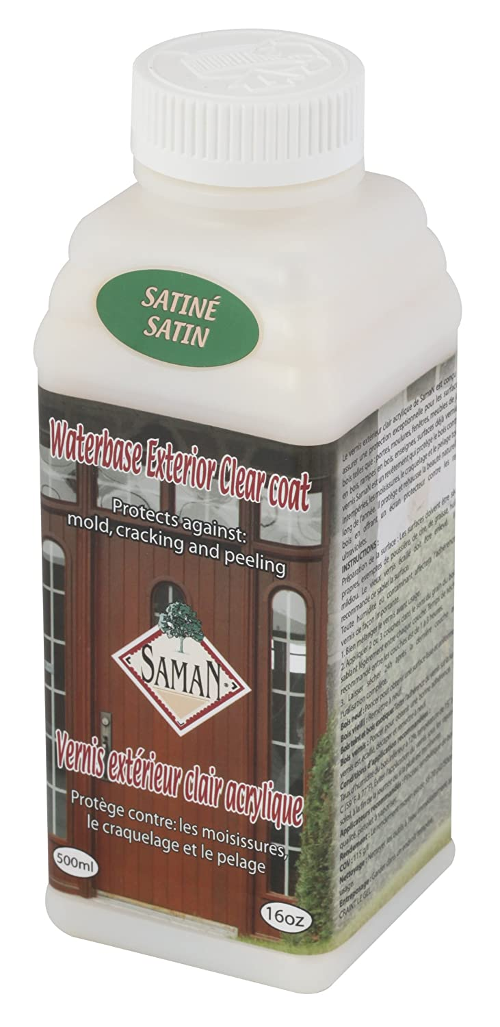 SamaN SAM 830 500ml 1 Pint Exterior Water Based Satin Varnish