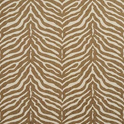 Amazon.com  Zebra Natural Beige and White Animal Print Chenille ... 062af3b93506