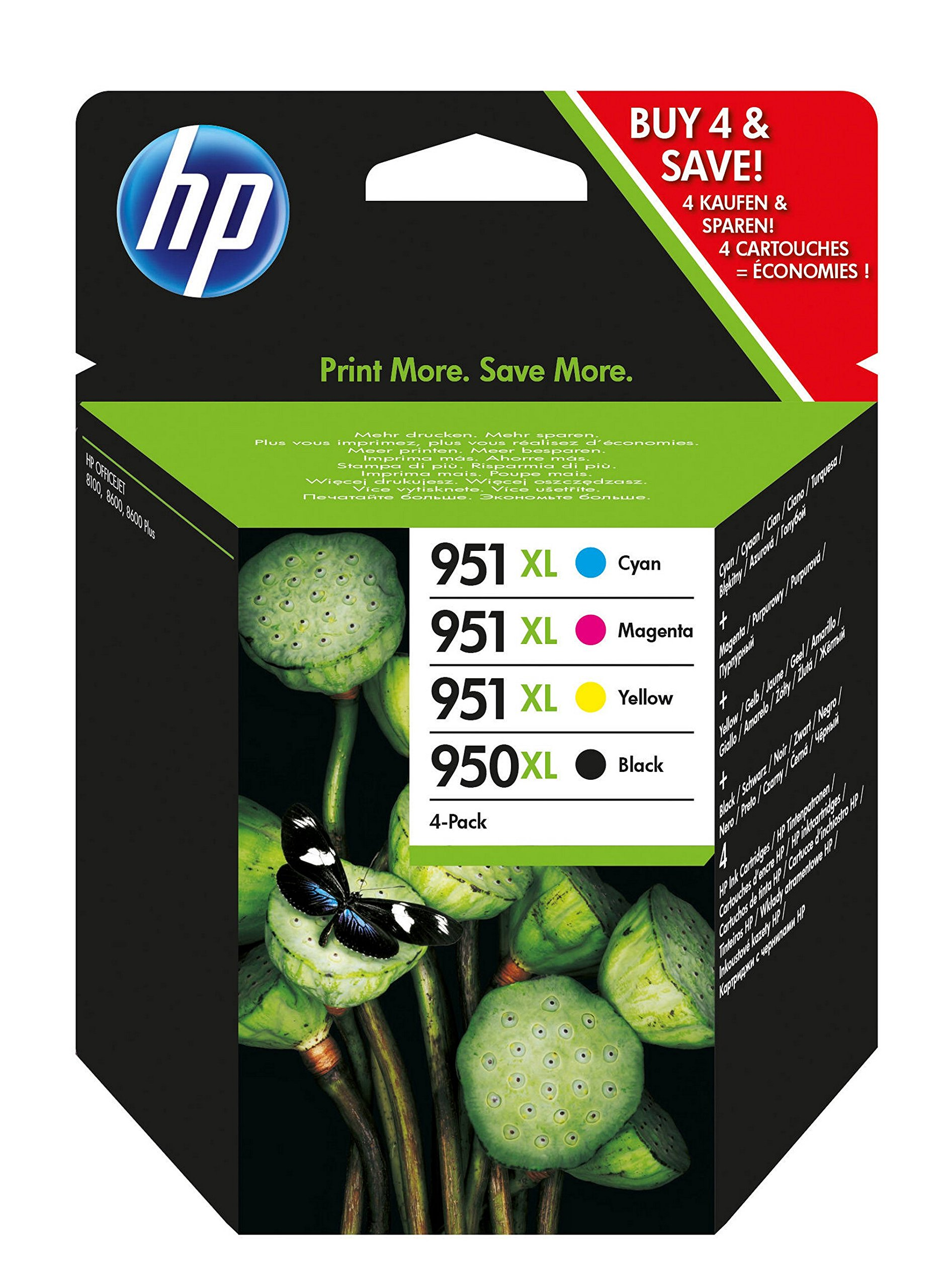 HP C2P43AE 950XL/951XL Ink CMYK Combo Pk