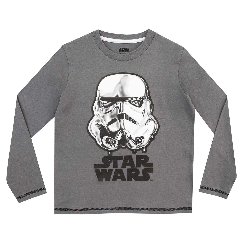 Star Wars Pigiama a Maniche Lunghe per Ragazzi Stormtrooper e Darth Vader 2 Pacchi