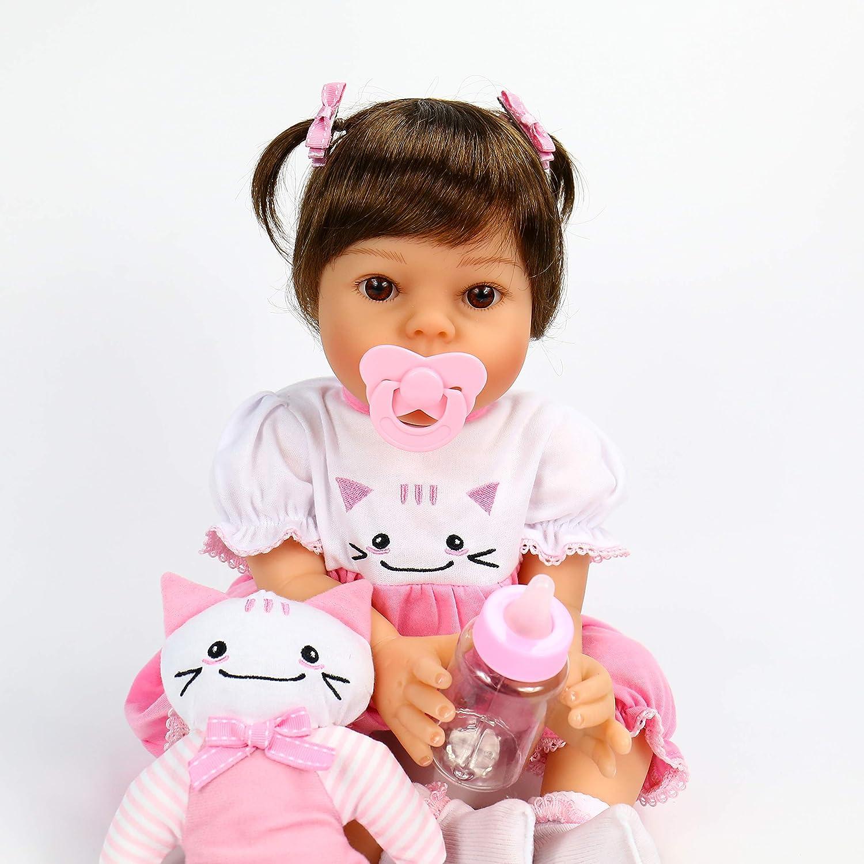 OtardDolls Reborn Doll 20 Reborn Baby Doll Lifelike Soft Vinyl Silicone Bebe Newborn Doll
