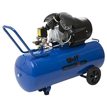 Wolf, Compresor De Aire V-Twin 100 L 3 CV, 23,79 m3/h: Amazon.es: Bricolaje y herramientas