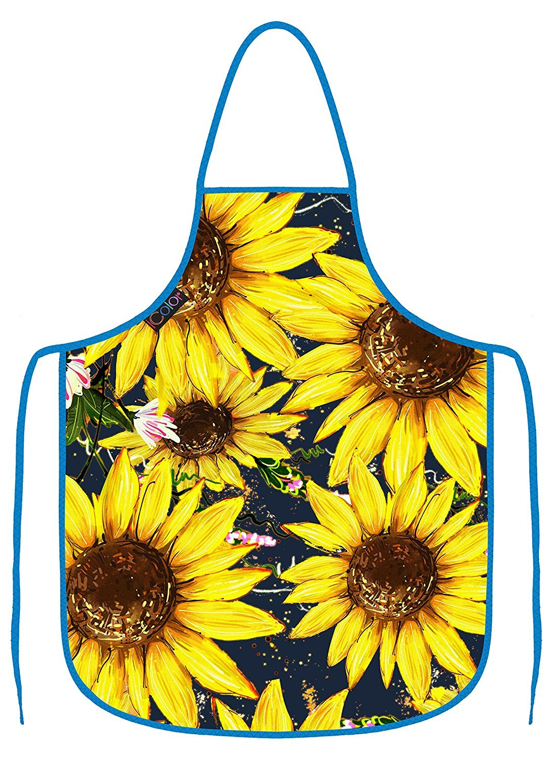 ICOLOR Cooking Apron,Funny BBQ or Kitchen Aprons,Machine Washable,Premium Quality Bib Aprons for Women and Men,Ideal for Kitchen,Parties,Garden,Camping /& More Choose Your Color AP-17