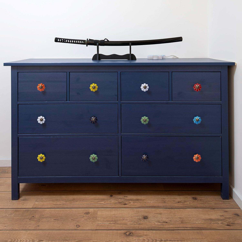 Dresser Unit T/ürkn/öpfe 8 St/ück Keramik Drawer Pull M/öbel Griff  mit SchraubeSchlafzimmer M/öbel Bunt Bedside Cabinet