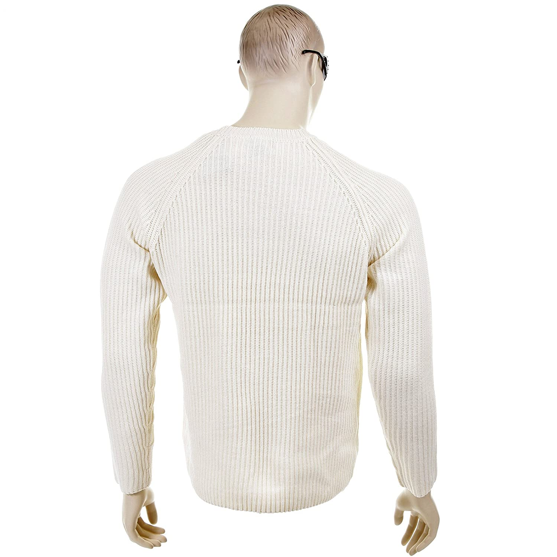 Thug or Angel Sweater Men's Jet Black collection cream crew neck knitted jumper. JBLK3916
