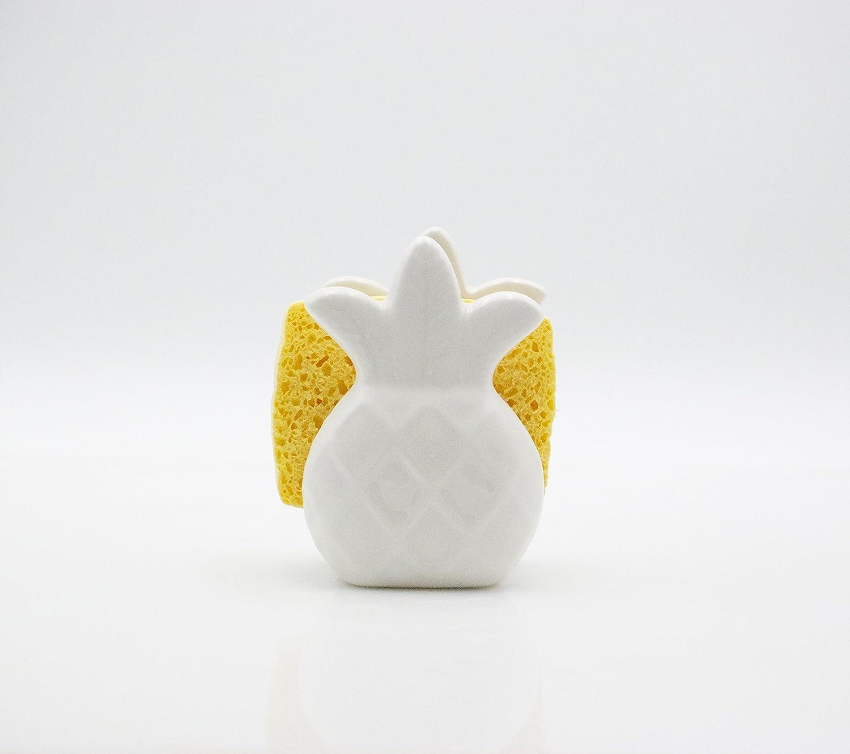 Pineapple napkin holder - ceramic napkin holder - pineapple sponge holder