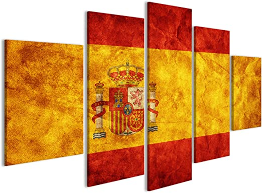 Cuadro Cuadros España Bandera del Grunge, Época de Estilo Retro ...