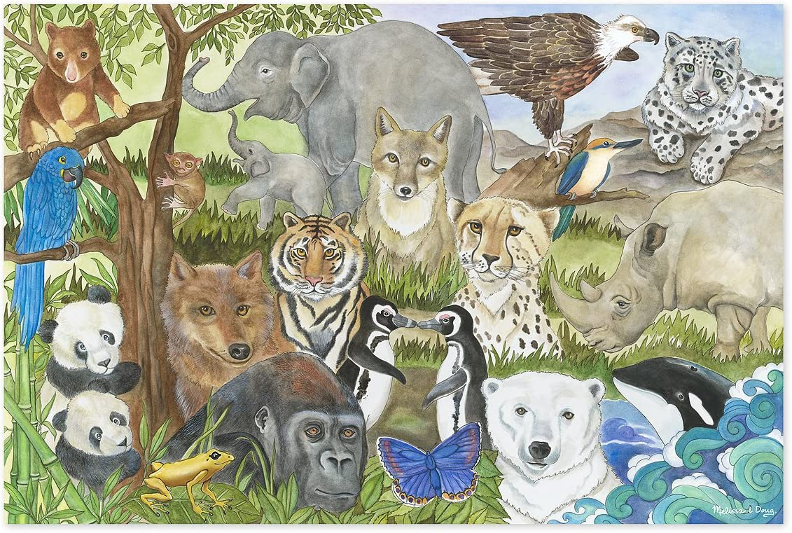 Melissa & Doug 48pc Endangered Species Floor Puzzle
