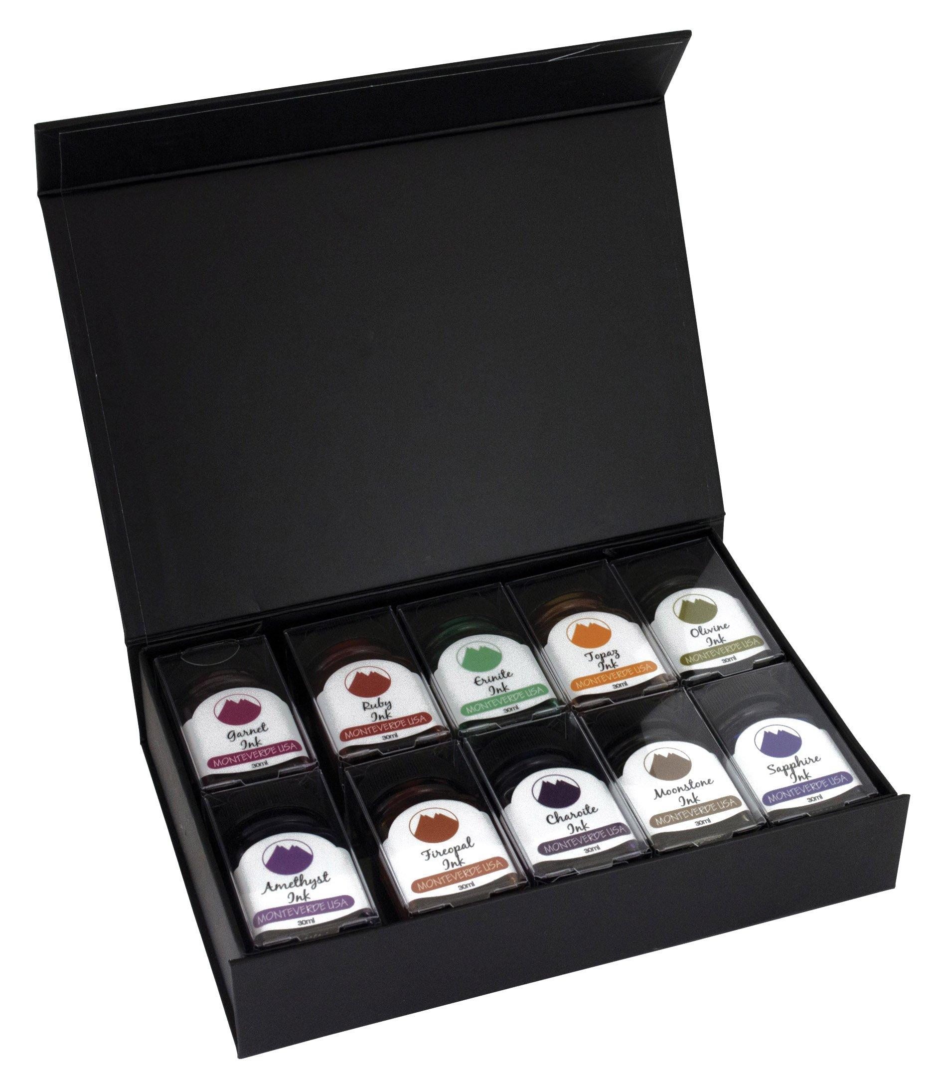 MONTEVERDE Gemstone Ink Collection Gift Set Fountain Pen Refill, Various Colors (MV12373)
