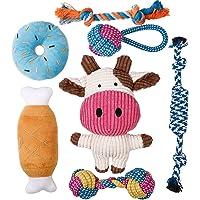 Toozey puppyspeelgoed - 7 STUKS Duurzaam hondenspeelgoed voor puppy's/kleine honden - kauwspeelgoed en piepend…