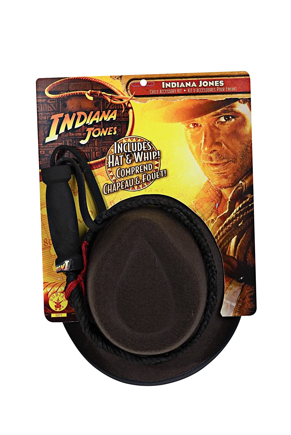 Indiana Jones Child's Hat and Whip Set Rubies Costume Co (Canada) 5271