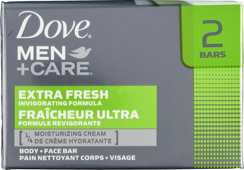 Dove men plus care extra fresh body and face bath bar - 2 ea