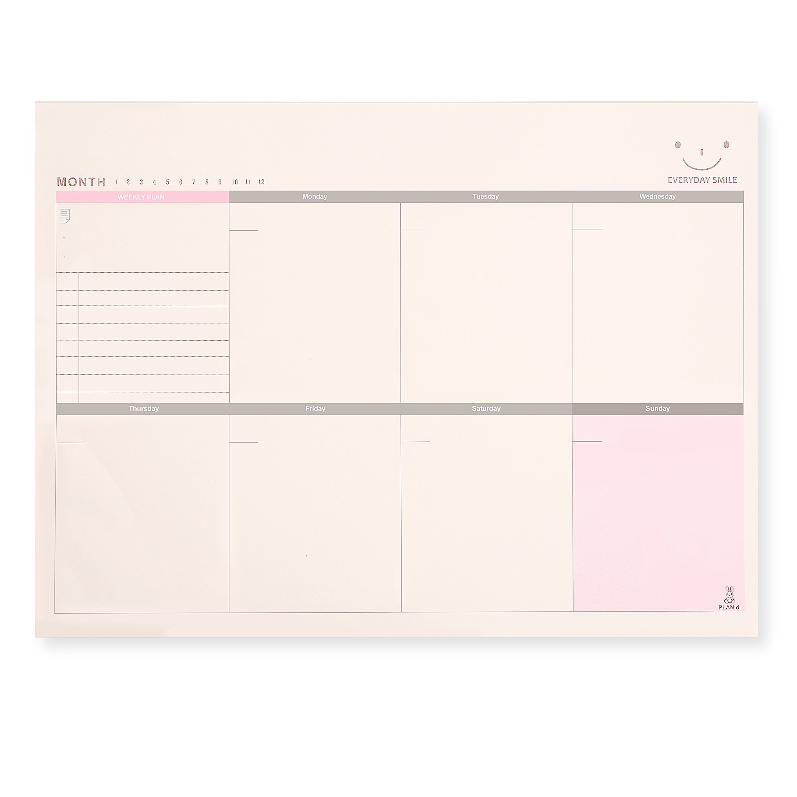 Skydue Weekly Planner Pad, A4 Large Tear-off Sheets Planning Organizer Notes Pads, January to December 2018, 11.4'' x 8.3'' 60 Pages