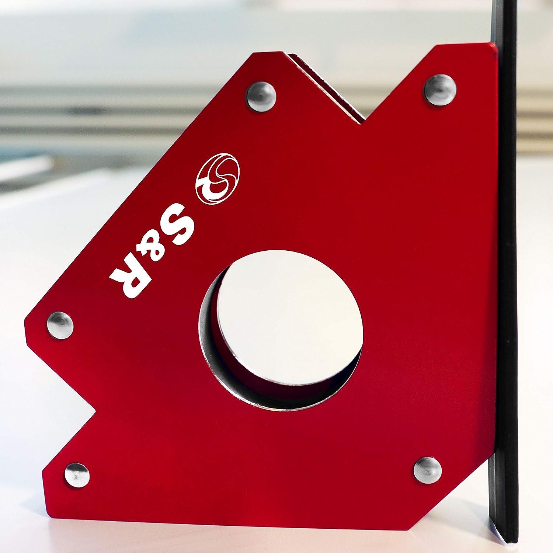 S&R Aimant de Soudure Equerre Magnetique avec angle 45° 90 ° 135 ° Charge max. 23kg S&R Industriewerkzeuge GmbH