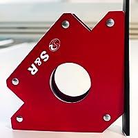 S&R Aimant de Soudure Equerre Magnetique avec angle 45° 90 ° 135 ° Charge max. 34kg - 125 mm
