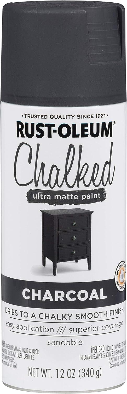 Rust-Oleum Chalked Matte Spray Paint 12oz-Charcoal Fabric