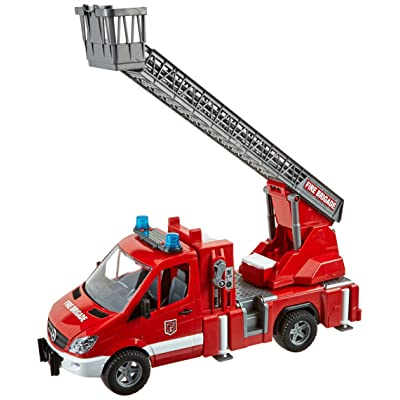Bruder 02532 MB Sprinter Fire Engine with Ladder Water Pump and Light/Sound Module: Toys & Games