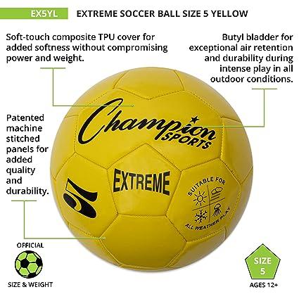 CHAMPION SPORTS Extreme Series - Pelota de fútbol compuesta ...