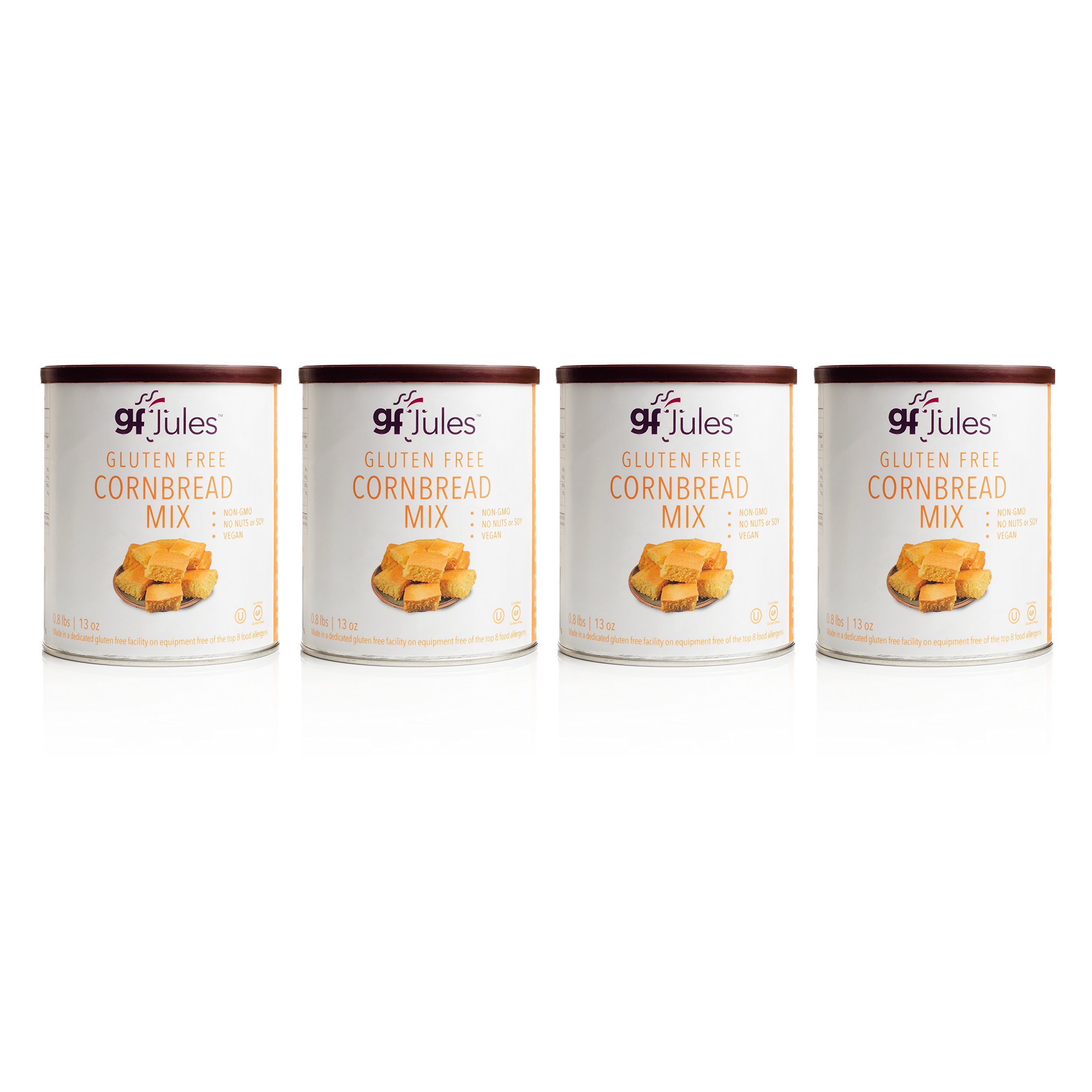 gfJules Gluten Free Cornbread Mix - Voted #1 by GF Consumers 0.8 lbs, Pack of 4 by gfJules