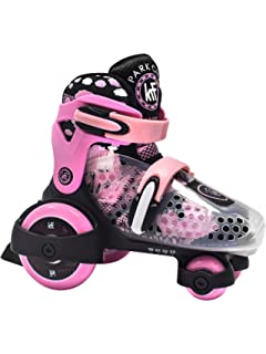 KRF The New Urban Concept Baby Quad Patines Ajustables, Bebé-Niñas, Rosa,