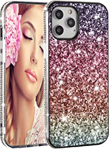 Solomo iPhone 11 Pro Max Case, Glitter Luxury Sparkle Rainbow Gradual Protective Case Cover with Bling Diamond Soft TPU Bumper for iPhone 11 Pro Max 6.5 Inch 2019 (Gradual Pink)