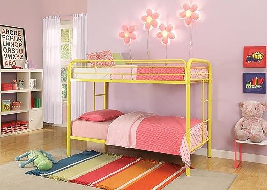 Amazon.com: ACME Furniture 02188YL Thomas Bunk Bed, Twin, Yellow ...