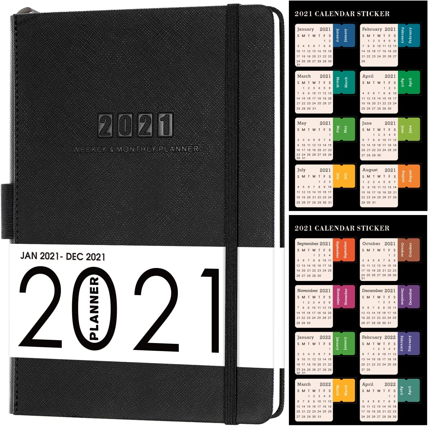 2021 Diary, Diary A5 Week to View Diary from Jan 2021 to Dec 2021 42% OFF £9.99 @ Amazon