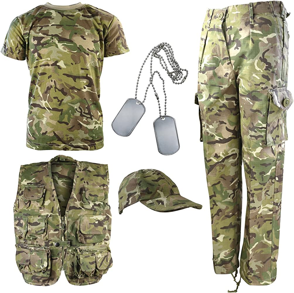 Kombat UK Explorer Kit - Traje de camuflaje para niños ...