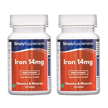 Amazon.com: Hierro 14 mg | Bundle Deal 120 + 120 Comprimidos ...