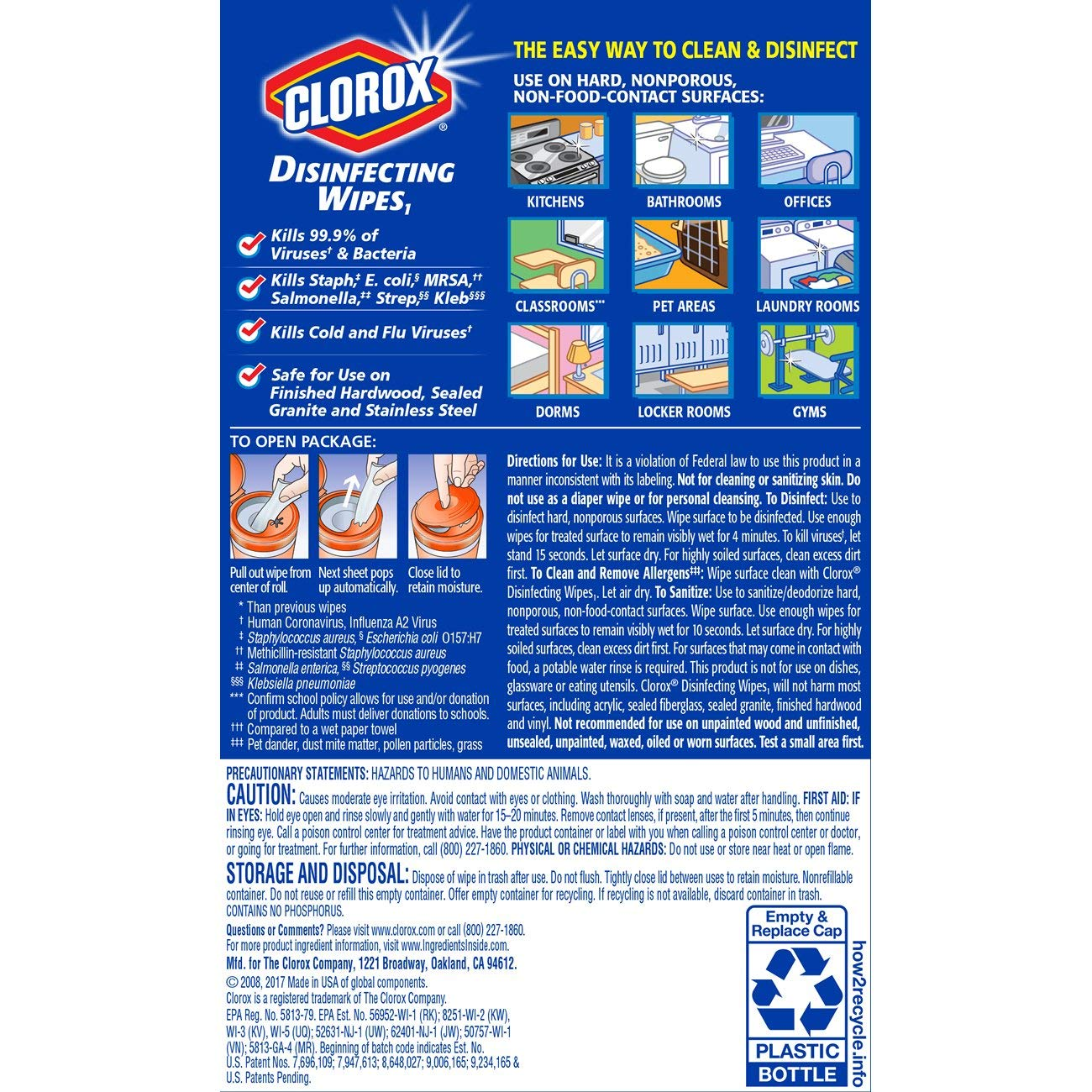 Clorox Disinfecting Wipes, Bleach Free Cleaning Wipes - Orange Fusion, 35 Count (Pack of 12) (Packaging May Vary) by Clorox (Image #8)