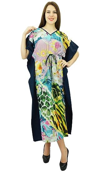5bdabb895096 Phagun Caftan Coton Nightwear Femmes Casual Bohème Kaftan Longue Robe Maxi