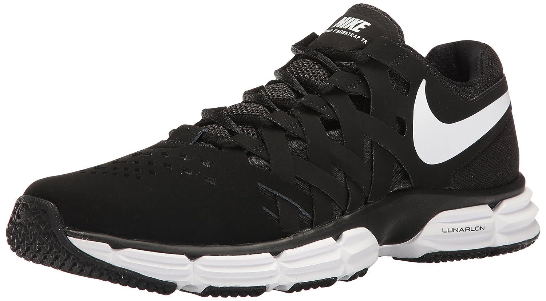 Noir blanc noir Nike Lunar Fingertrap TR, Chaussures de Fitness Homme 12.5 D(M) US