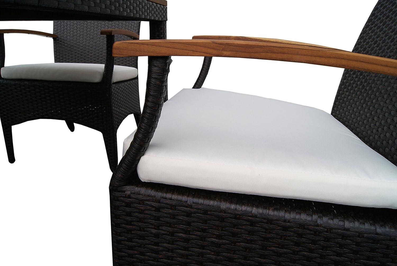 Amazon.de: Rattan Gartenmöbel - Garten Tisch Set für 2 oder 4 ...
