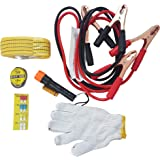 Inditradition Car Emergency Kit (6 in 1 Set) | for All Type of Cars (with Towing Rope & Jumper Cable)