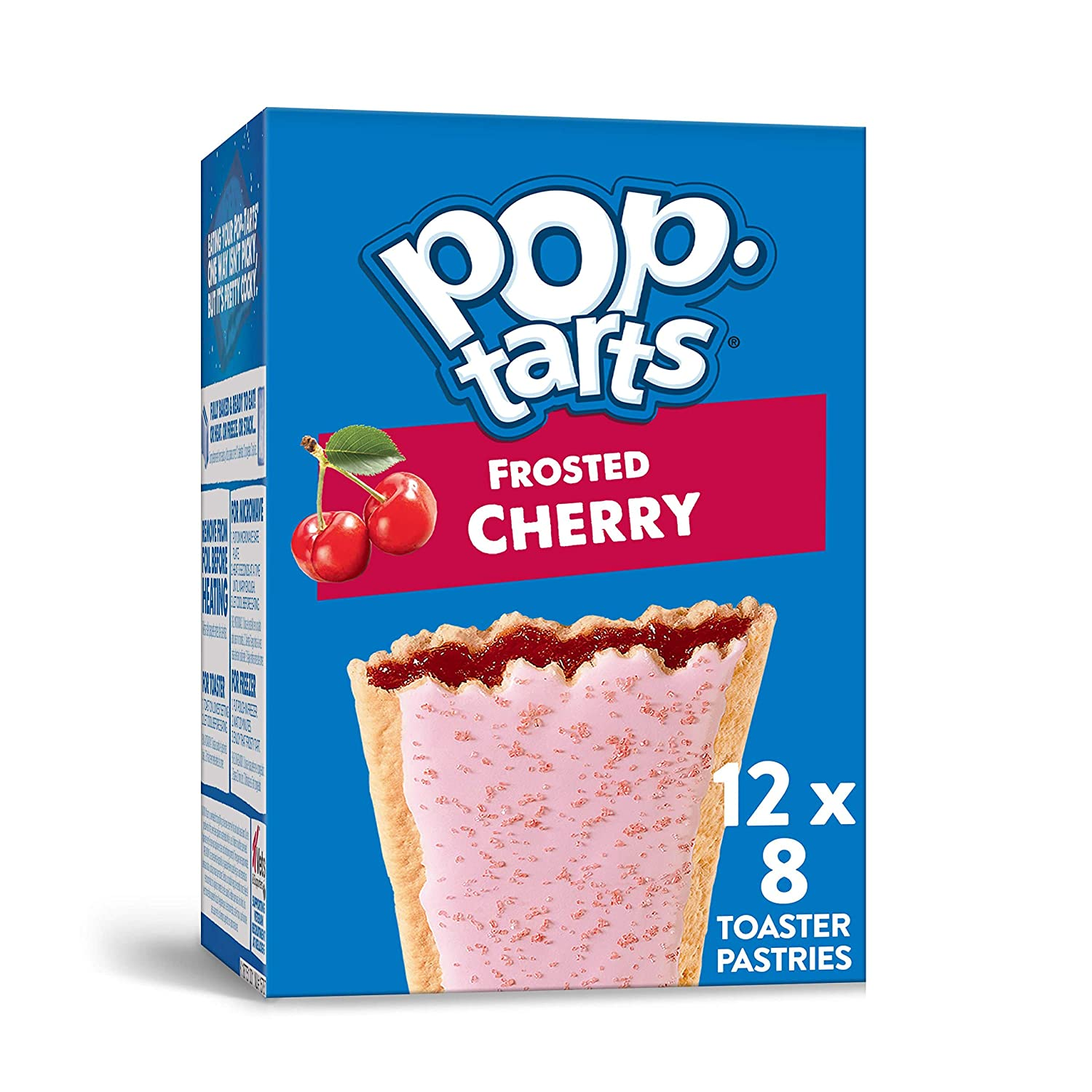 Pop-Tarts Frosted Cherry Breakfast Toaster Pastries, 13.5 Oz(Pack of 12)