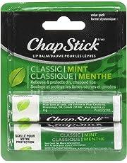 ChapStick Classic Mint (2 Pack) Lip Balm, Skin Protectant, 4g × 2