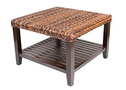 BirdRock Home Woven Seagrass Coffee Table | Mahogany Wood Frame | Fully  Assembled