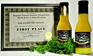 product image for The Coeur d'Alene Dressing Company - Award Winning Ginger Dressing and Glaze - Two 12 Ounce Jars