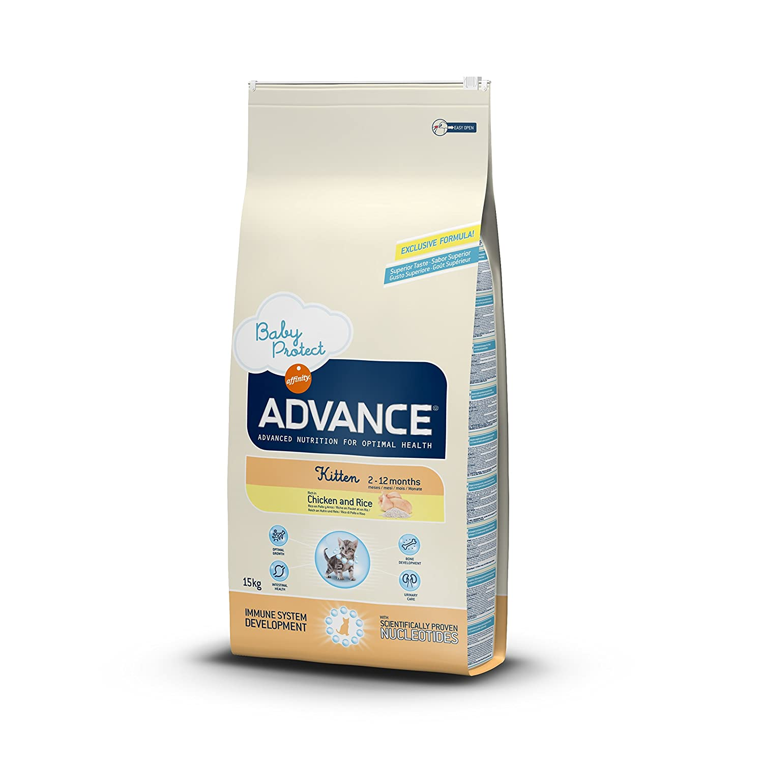 Advance Affinity Comida Seca para Gatos Sabor Pollo 15 kg.: Amazon ...